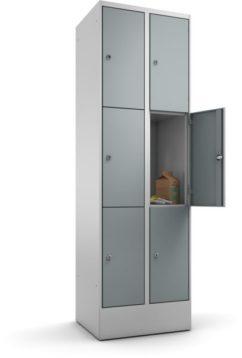 Schließfachschrank 3 Türen übereinander