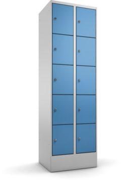 Schließfachschrank 5 Türen übereinander