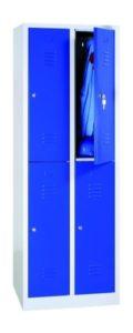 Garderobenschrank mit 2 Türen übereinander